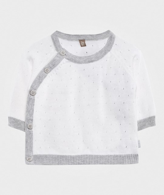 Hust&Claire Pointelle Knit Sweater White White