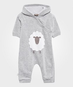 Hust&Claire Knitted Jumpsuit w. Sheep Silver Grey Melange
