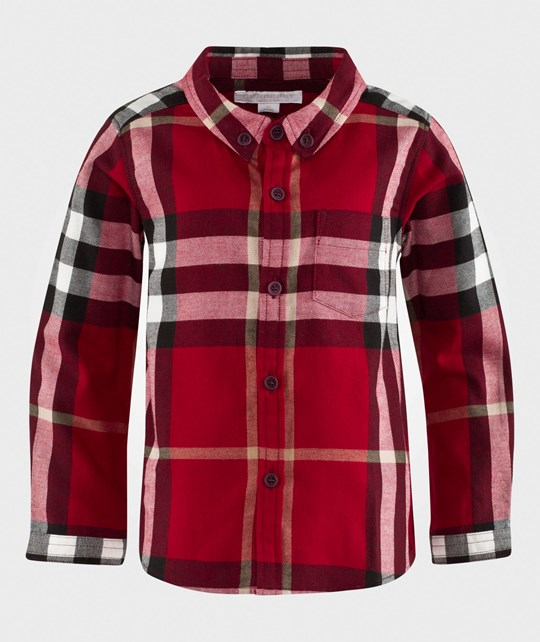 Burberry Рубашка Fred Flannel Check Shirt Parade Red Parade Red