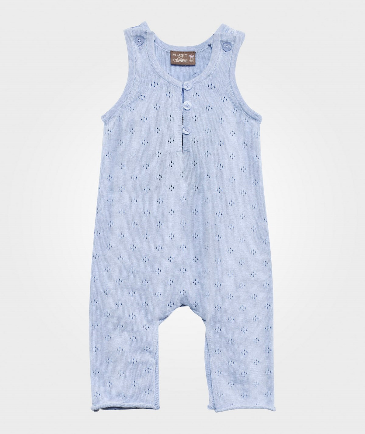 Knitted Overall Light Blue - Hust Claire - Babyshop 44abf0a43687e