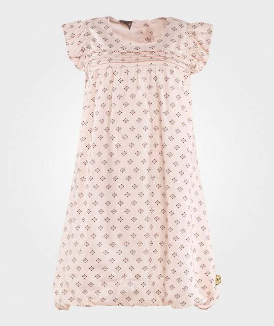 Hust&Claire Dress w. Flowers Nude Rose Nude Rose