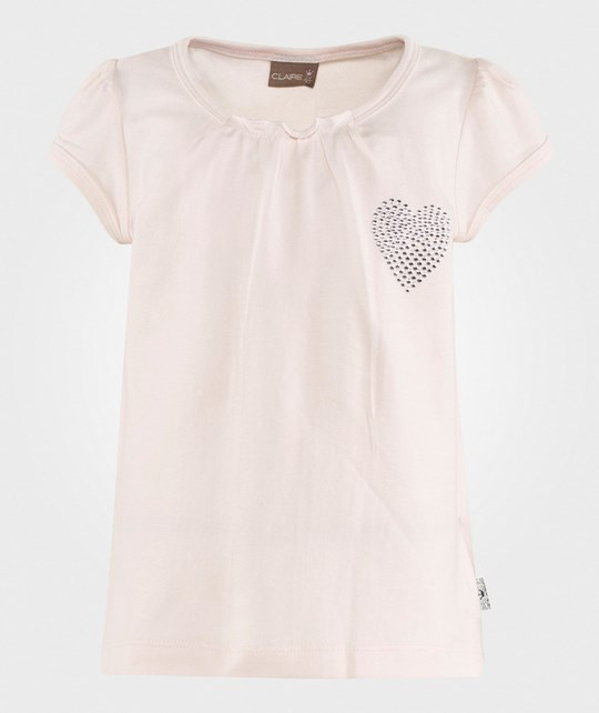 Hust&Claire Silver Heart T-Shirt Nude Rose