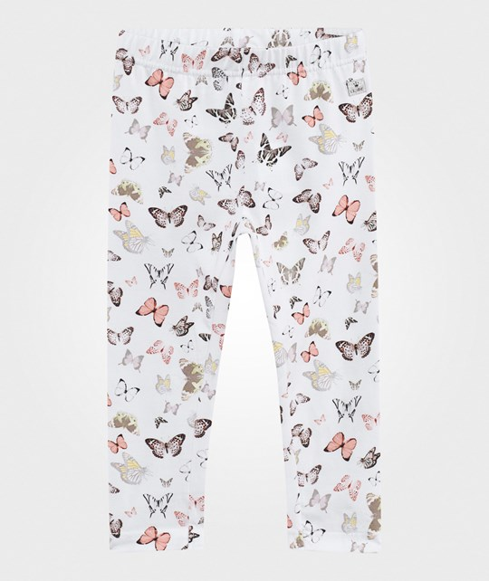 Hust&Claire Leggings w. Butterfly White White