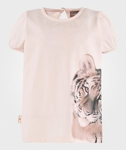 Hust&Claire Tiger Print T-Shirt Soft Rose