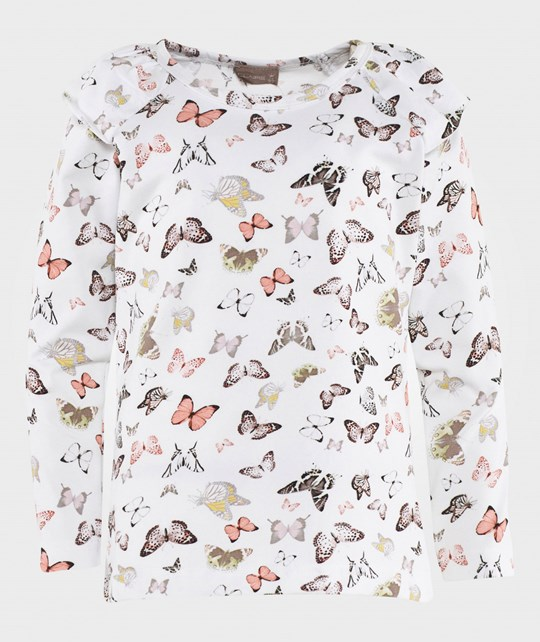 Hust&Claire Blouse w. Butterfly White White