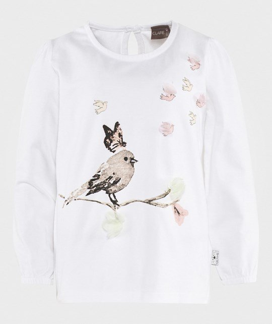 Hust&Claire Blouse With Bird 1246 White