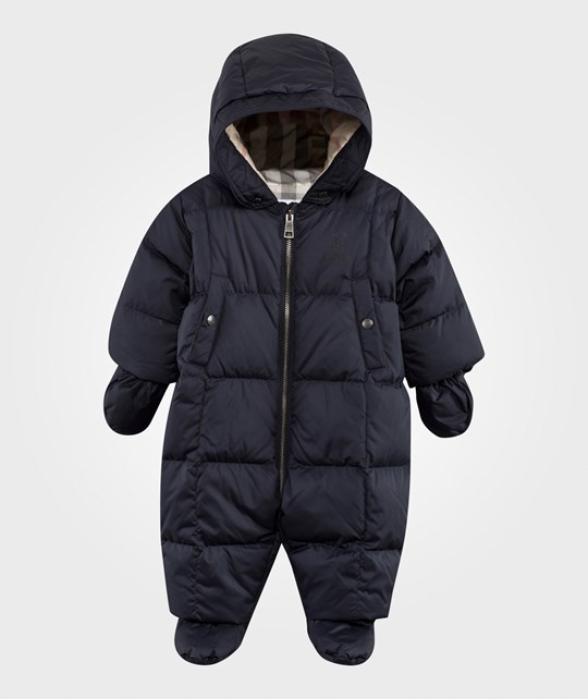 Burberry Skylar Down/Feather Puffer Snowsuit Navy Navy