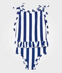 The BRAND Bow Swim Suit Blue/White Stripe Blue/white stripe