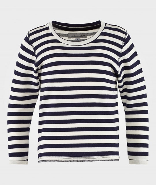 Christina Rohde Top No. 405 in White & Navy Stripes White & navy stripes