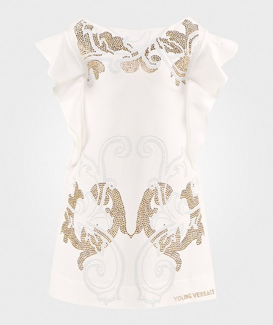 Young Versace Dress White/Gold BIANCO/BIANCO-ORO