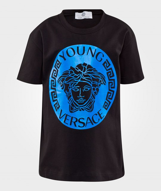 Young Versace T-Shirt Black/Blue NERO/OCEANO