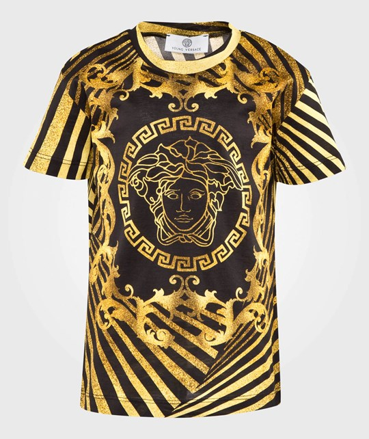 Young Versace T-Shirt Black/Gold NERO-ORO