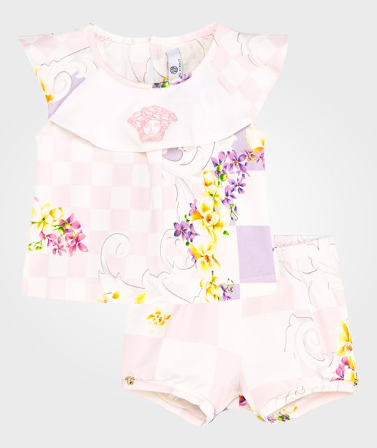 Young Versace Romper Multi/White/Pink MULT /BIANCO/ROSA