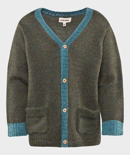 As We Grow V-neck Cardigan Green/Seablue Green/Seablue