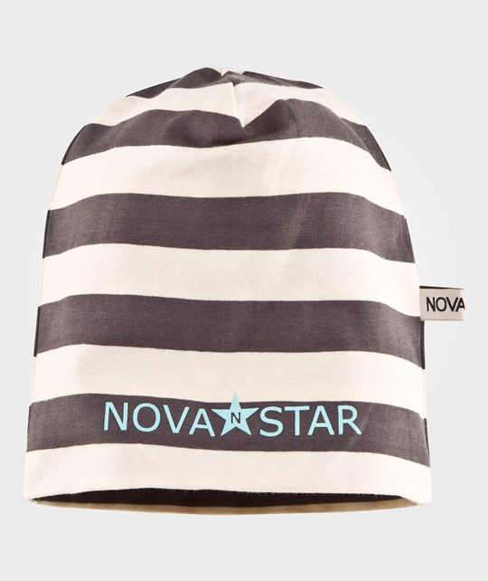 Nova Star Striped Beanie Ash Grey