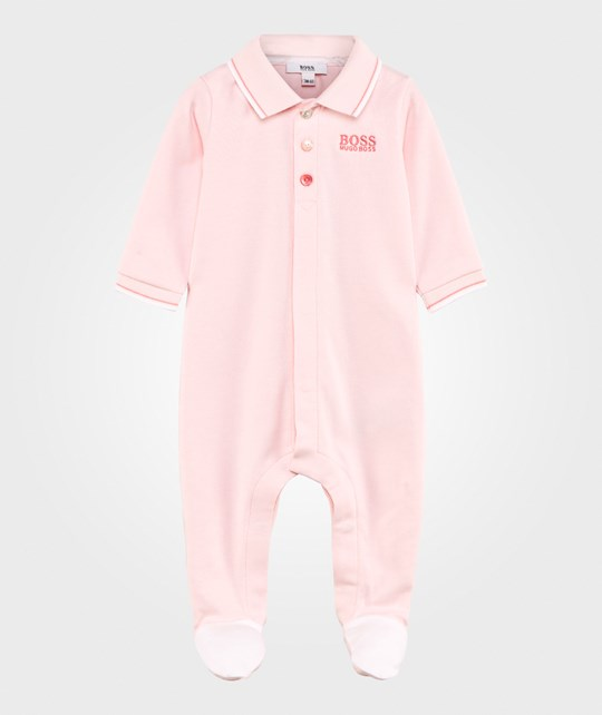 BOSS Footed Baby Body Pale Pink Pink Pale