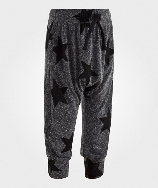 NUNUNU Star Baggy Housut Charcoal Charcoal