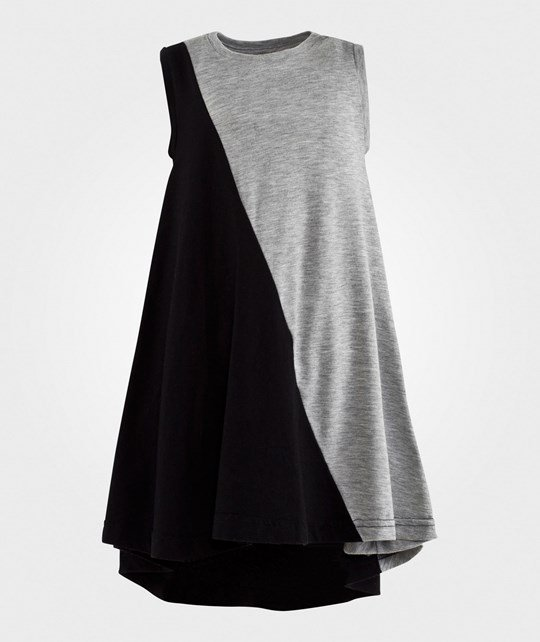 NUNUNU 360° Tank Dress Black & Heather Grey Black&Heather Grey