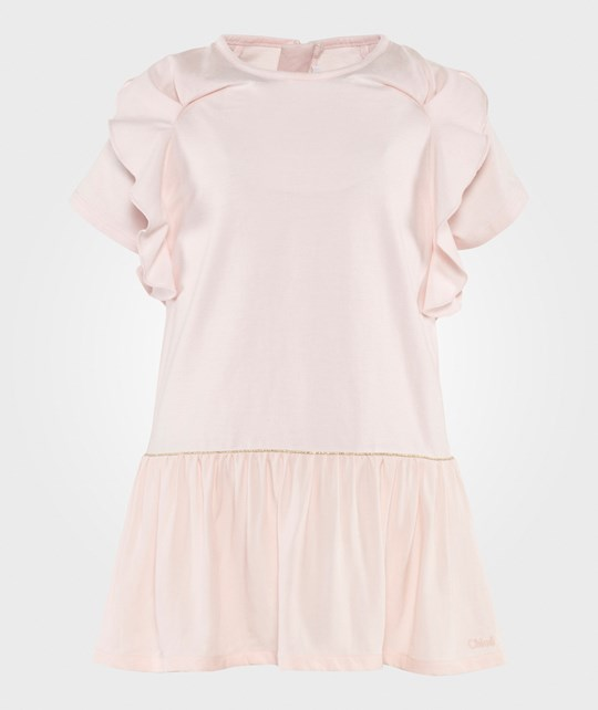 Chloé Baby Pink Dress With Frill Sleeves Apricot