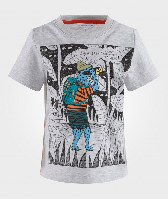 Little Marc Jacobs Tee-Shirt Gris Clair Chine Gris Clair Chine