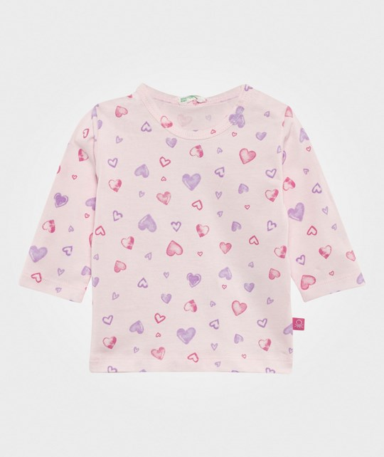 United Colors of Benetton Heart T-Shirt Pink PINK 64K