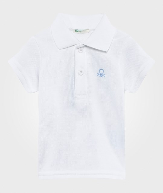 United Colors of Benetton Polo T-Shirt White WHITE 101