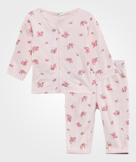 United Colors of Benetton Floral Tracksuit Set Pink PINK 66L