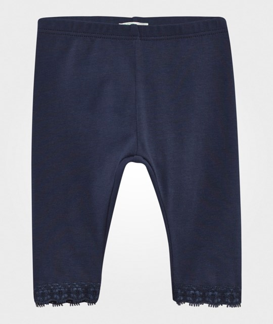 United Colors of Benetton Lace Trim Leggings Navy NAVY 13C