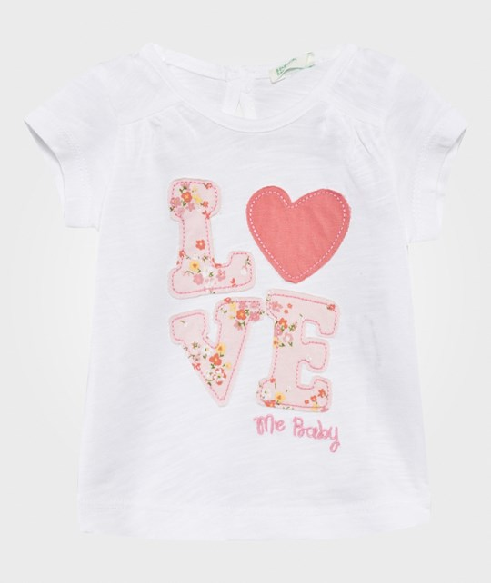 United Colors of Benetton Love T-Shirt White WHITE 101