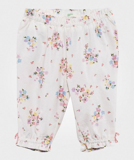 United Colors of Benetton Floral Trousers White WHITE 61T