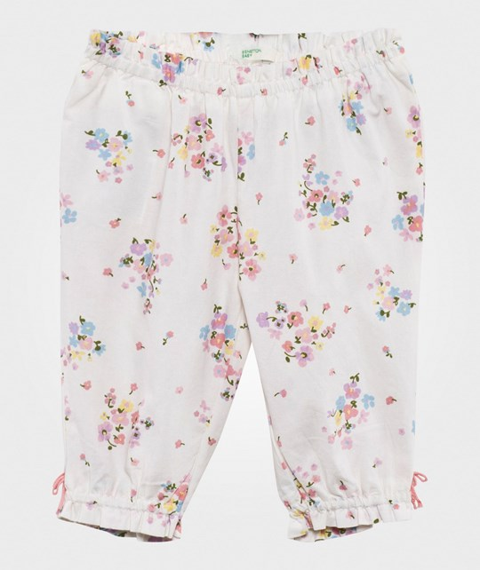 United Colors of Benetton Floral Trouser White WHITE 61T