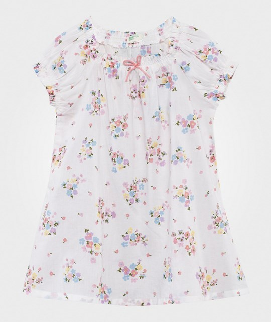 United Colors of Benetton Floral Dress White WHITE 61T