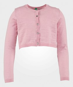 United Colors of Benetton Cropped Cardigan Pink