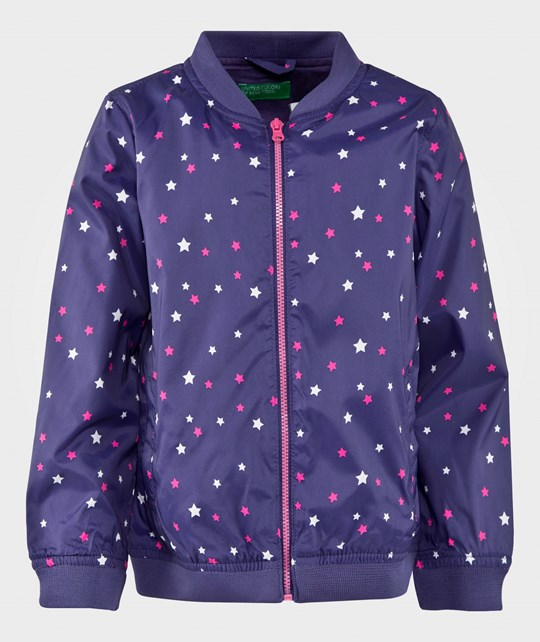 United Colors of Benetton Star Bomber Jacket Blue BLUE 904
