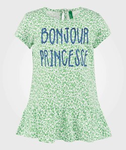 United Colors of Benetton Floral Peplum T-Shirt Green