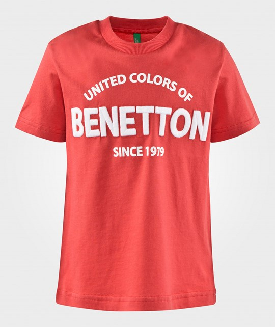 United Colors of Benetton Logo T-Shirt Red RED 11R