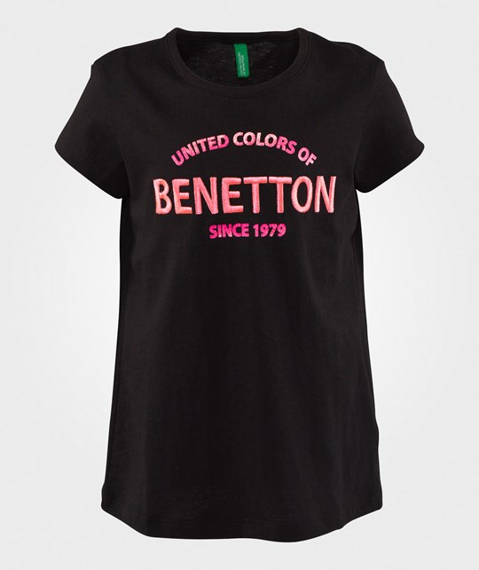 United Colors of Benetton Logo T-Shirt Black BLACK 100
