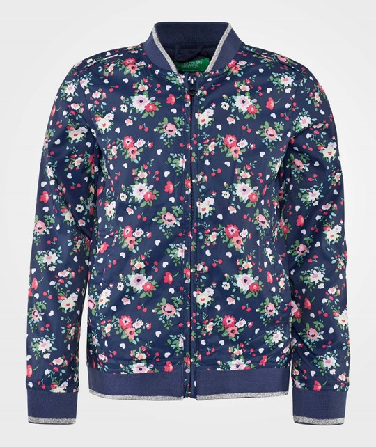 United Colors of Benetton Floral Bomber Navy NAVY 901