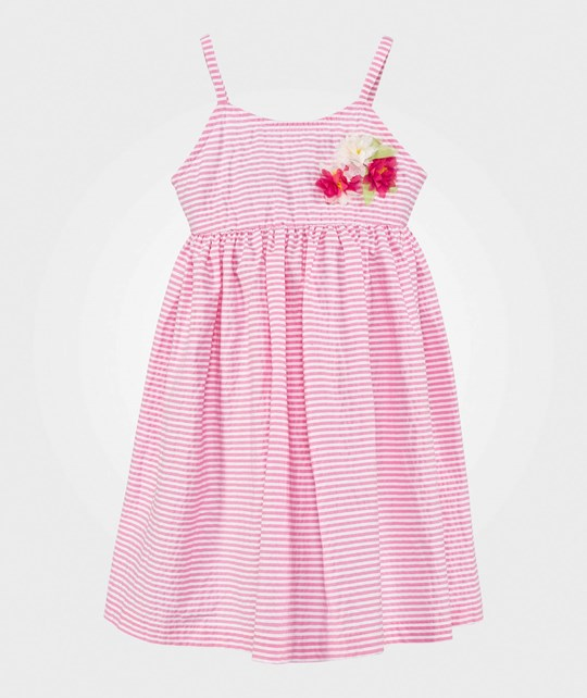 United Colors of Benetton Stripe Dress Pink PINK 901