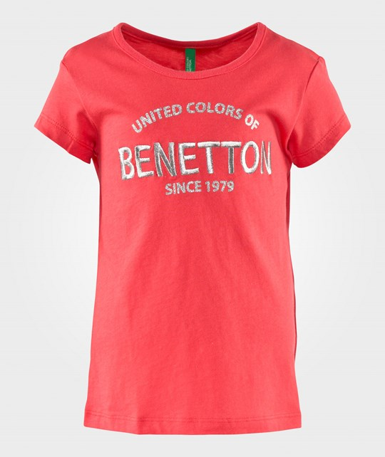United Colors of Benetton Футболка  Logo T-Shirt Coral CORAL 01G