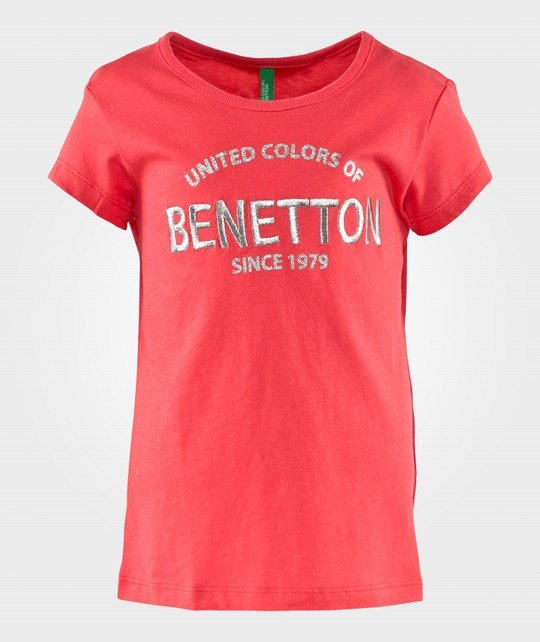 United Colors of Benetton Logo T-Shirt Coral CORAL 01G