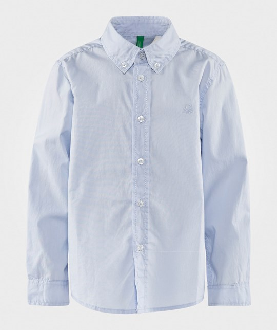 United Colors of Benetton Classic Shirt Light Blue LIGHT BLUE 081