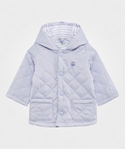 United Colors of Benetton Quilted Barn Jacket Blue