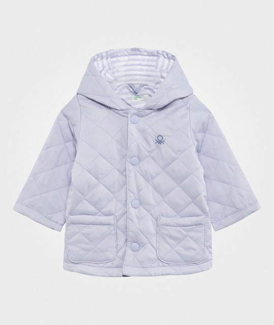 United Colors of Benetton Quilted Barn Jacket Blue BLUE 081