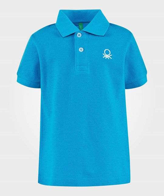 United Colors of Benetton Polo Shirt Bright Blue BRIGHT BLUE 08V