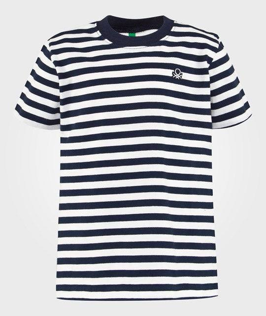 United Colors of Benetton Stripe T-Shirt Off White OFF WHITE 600