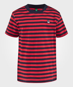 United Colors of Benetton Stripe T-Shirt Red