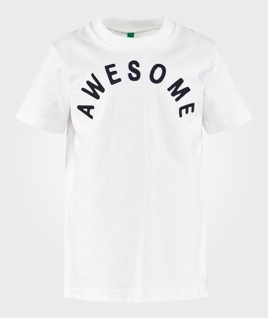 United Colors of Benetton Awesome T-paita Valkoinen WHITE 101