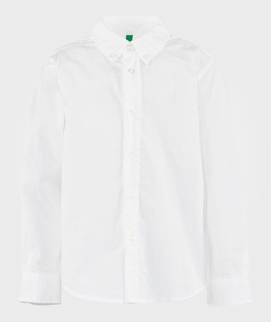 United Colors of Benetton Classic Dress Shirt White WHITE 101