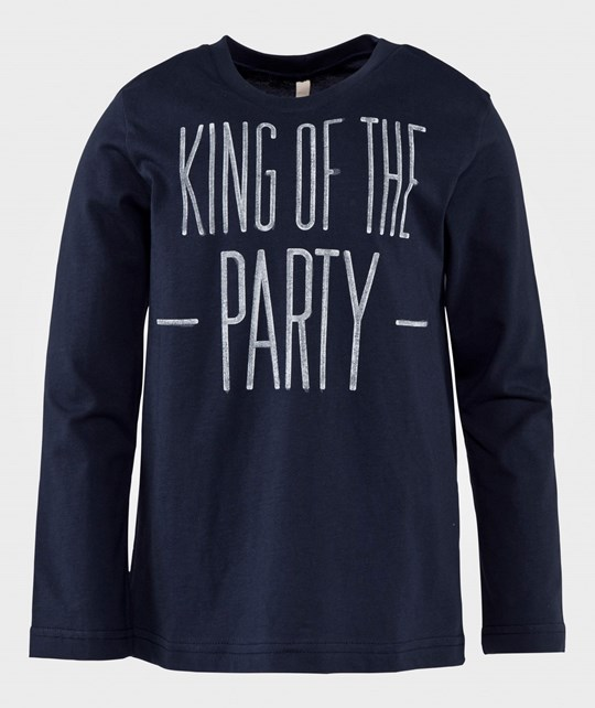 United Colors of Benetton Футболка  King Of The Party T-Shirt Navy NAVY 13C